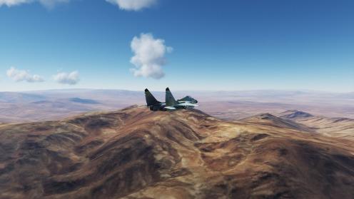 MiG-29-Kerman-south-mountains