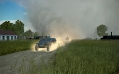 Our convoy was obscured by smoke on arrival...