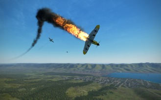 P-39L-1-bf109-fire2
