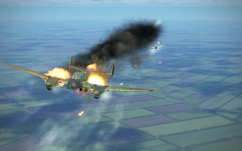 Under heavy fire, this Pe-2 is showing off new hit, fire and smoke effects