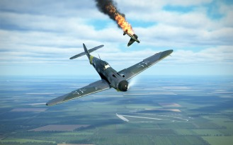 Bf109G-4-another-flamer