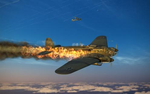 He111H6-on-fire